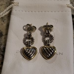 David Yurman dangle heart earrings
